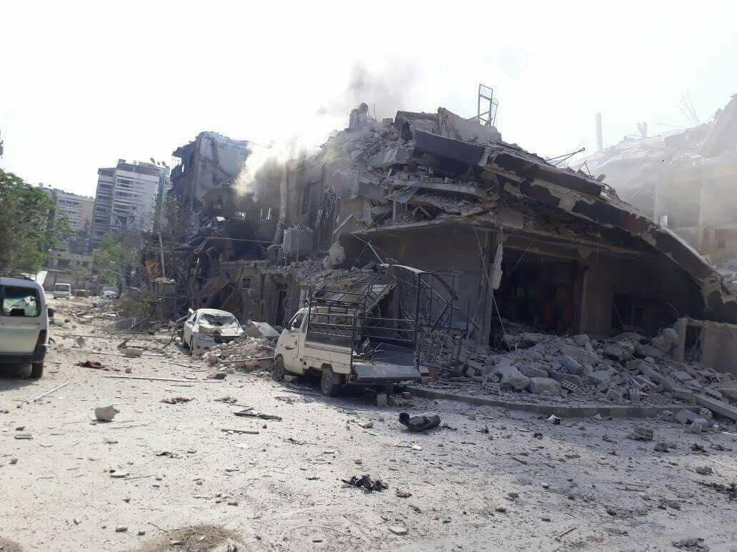 Le bombardement de la ville de Douma