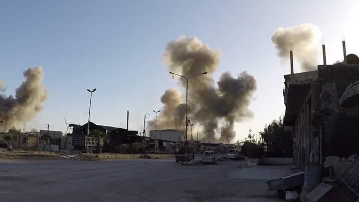 Le bombardement intense de Douma