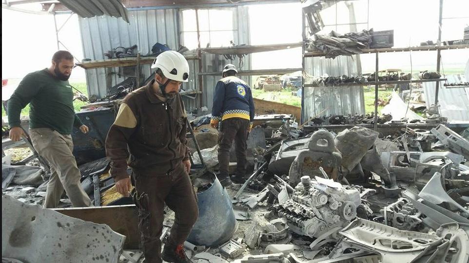 Les dégâts à l'usine d'Al-Dana