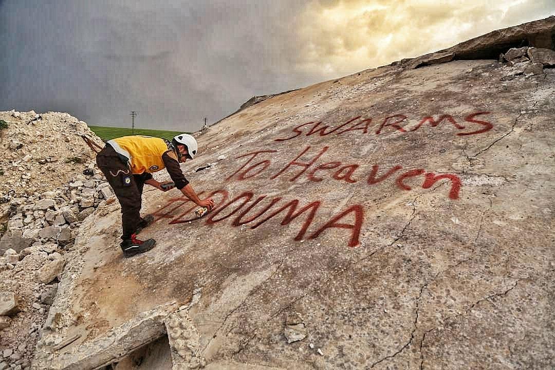 Hommage à Douma, de la ville de Khan Cheikhoun déjà victime d'armes chimiques en 2017