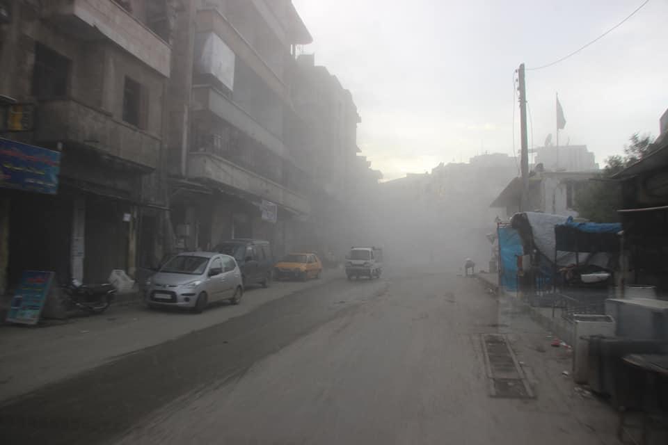Bombardement de la ville de Jisr Al-Choughour