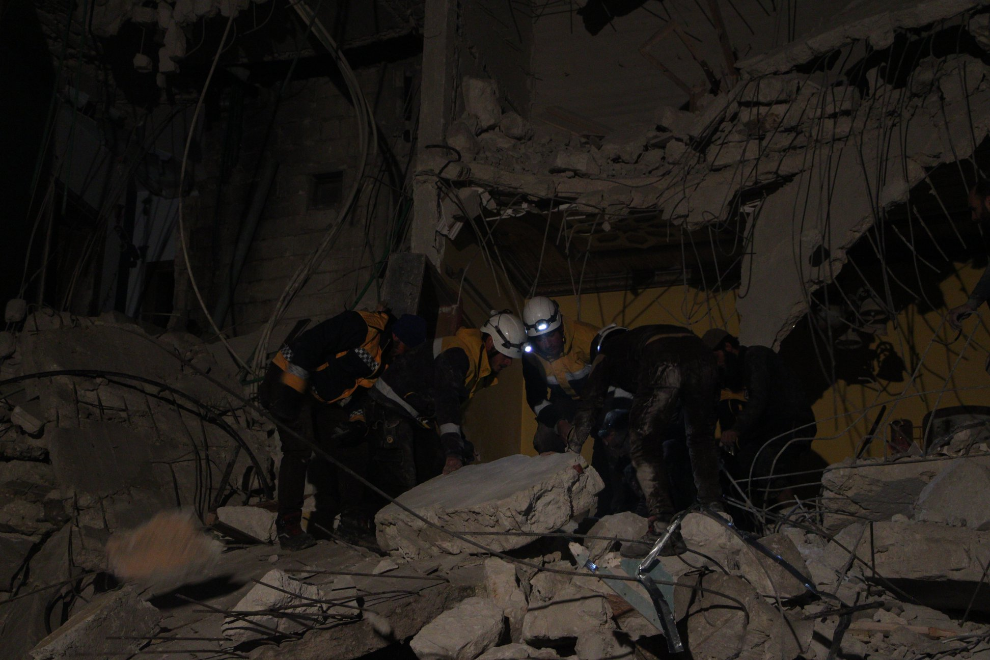Explosion à la ville d'Idlib