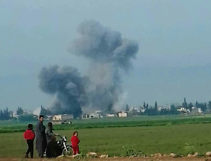 Les raids aériens sur le Mont Chahchabo