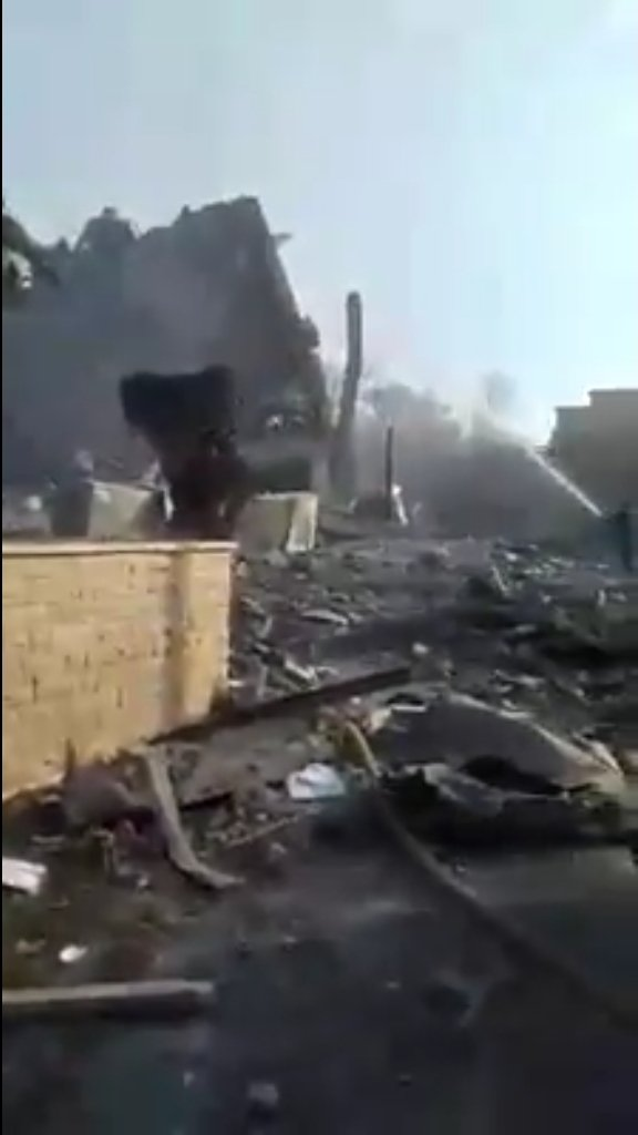 Le site de recherche de Barzeh à Damas ce matin