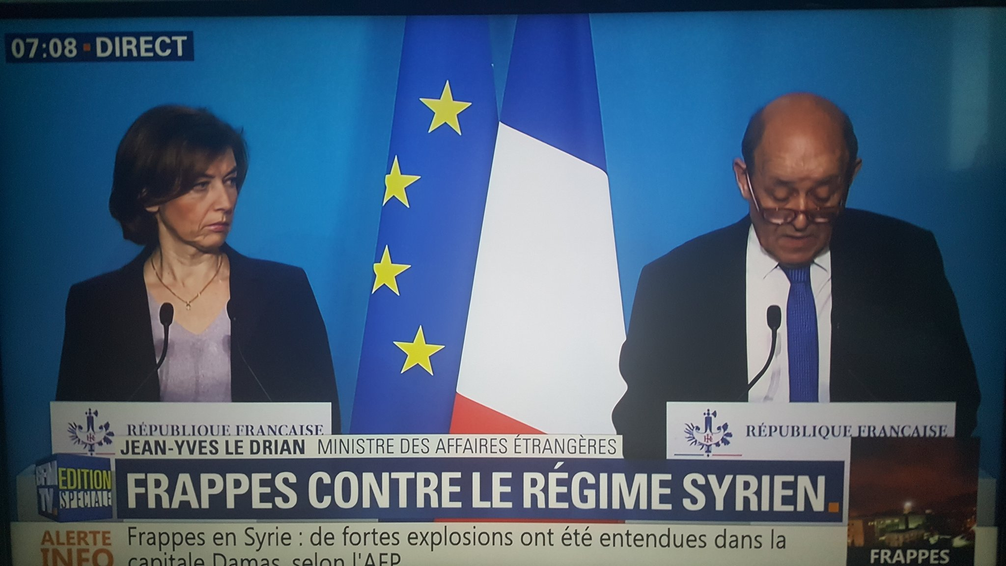 Paris : la conférence de presse ce matin