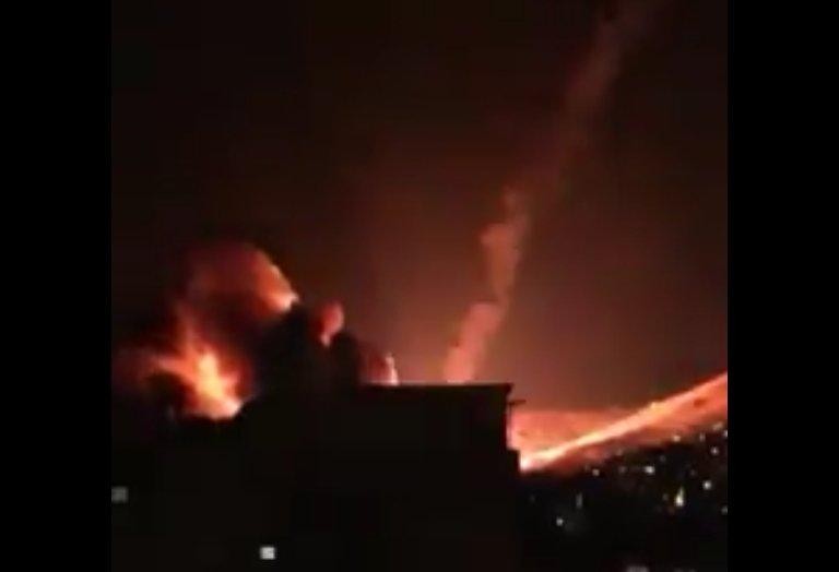 Explosion d'un missile à Damas