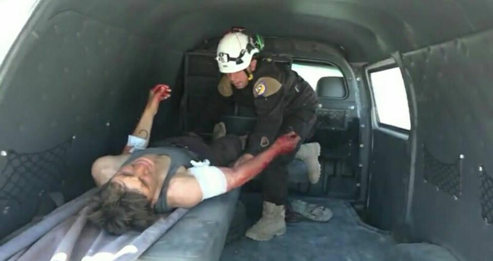 La défense civile sauve un blessé à Al-Zaafaranah