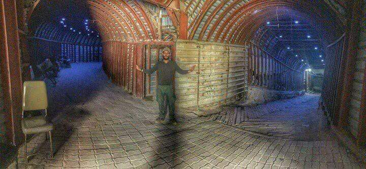 Les tunnels de la ville de Douma