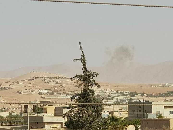 Le bombardement hier de la ville d'Ar-Ruhaybah