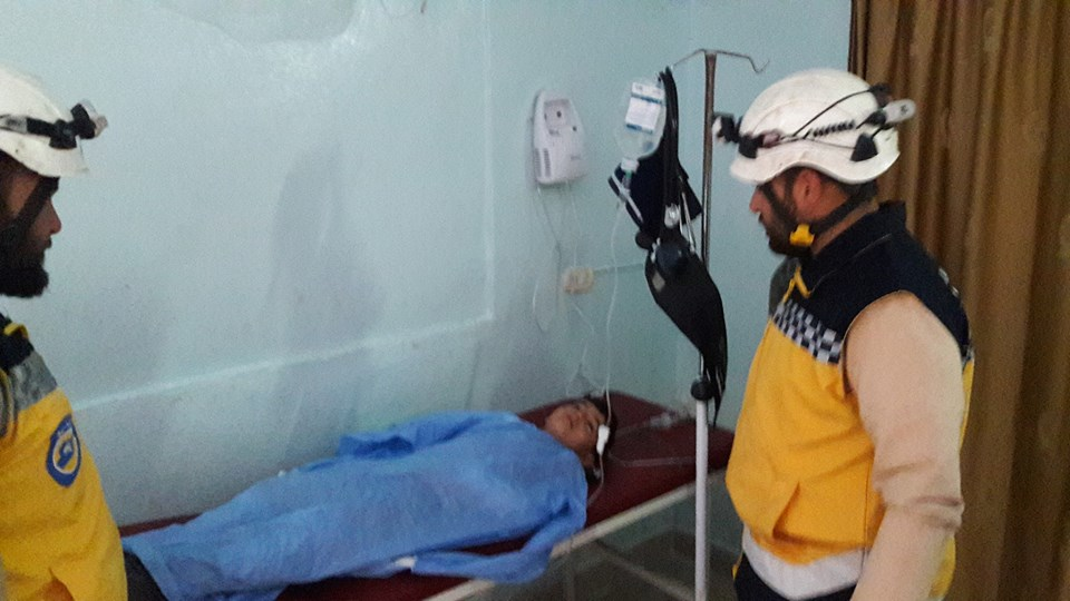 L'enfant blessé à Hayan en province d'Alep