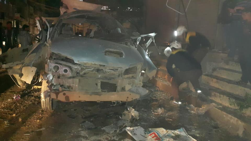 La voiture piégée à Al-Dana