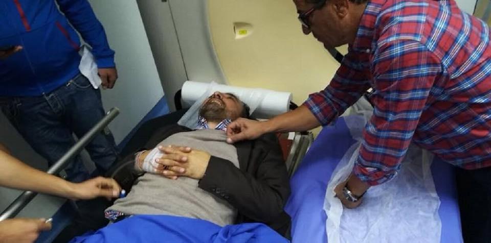 Le journaliste Ali Al-Amine à l'hôpital