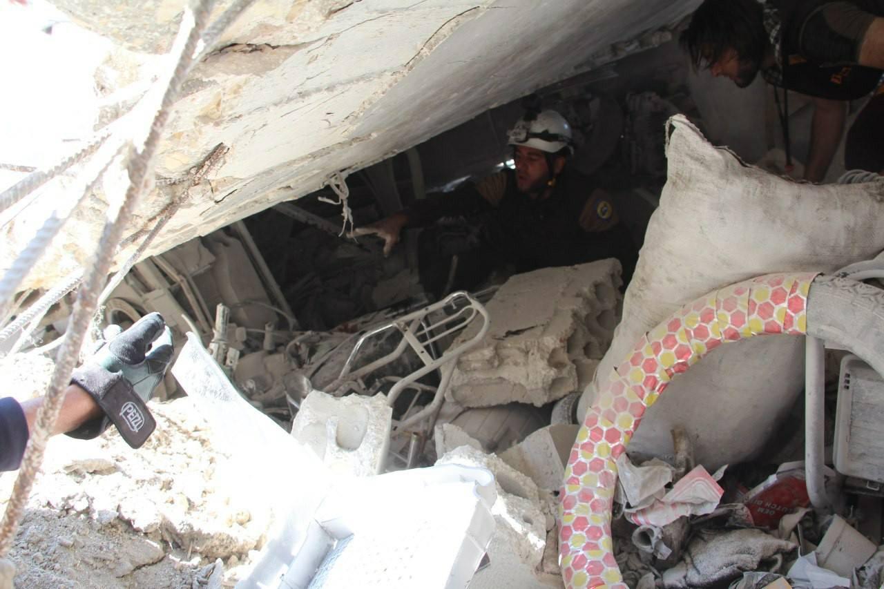 La recherche de victimes à Maar Tahroma