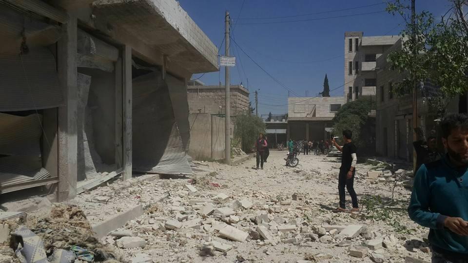 Kafranbel : les dégâts causés par les raids russes