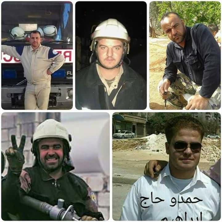 Les casques blancs d'Al-Atarib, martyrs de la liberté