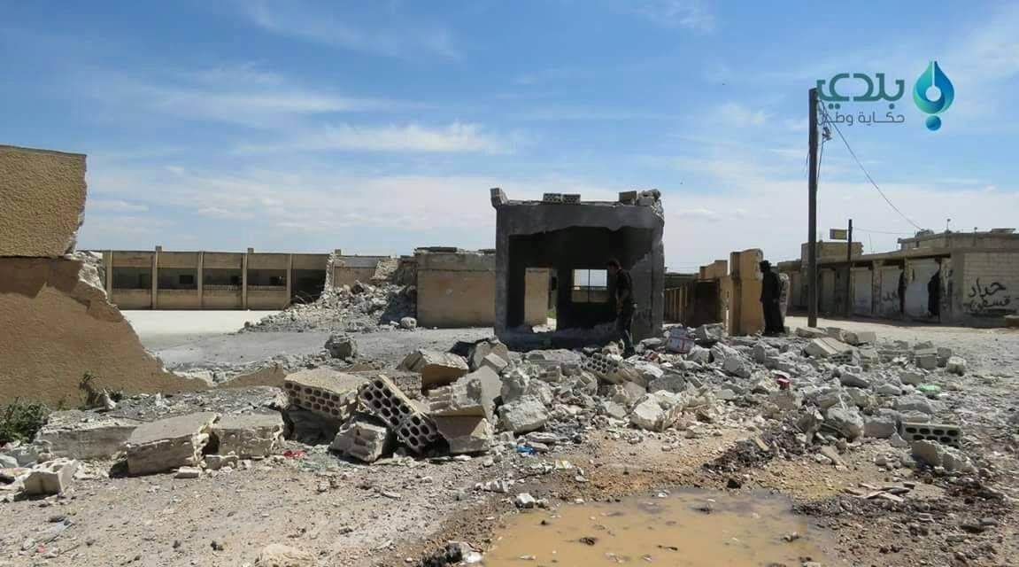 L'école de Kafr Sajna détruite par le régime