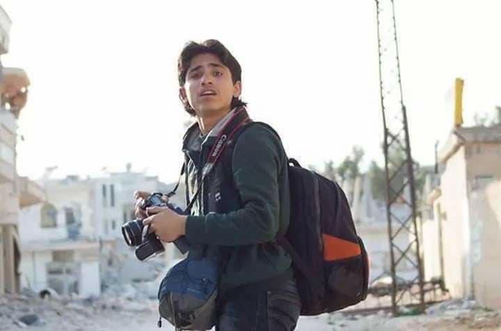 Moaz Al-Omar le reporter victime le plus jeune