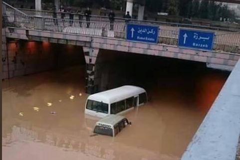 Les pluies torrentielles à Damas