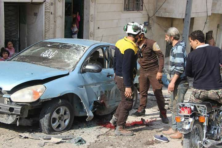 Les traces de l'explosion à Jisr Al-Choughour