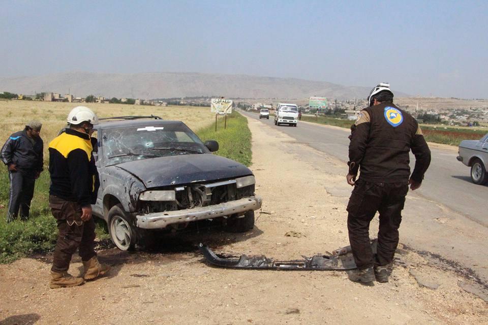 Une voiture victime d'une charge explosive sur la route de Salkine