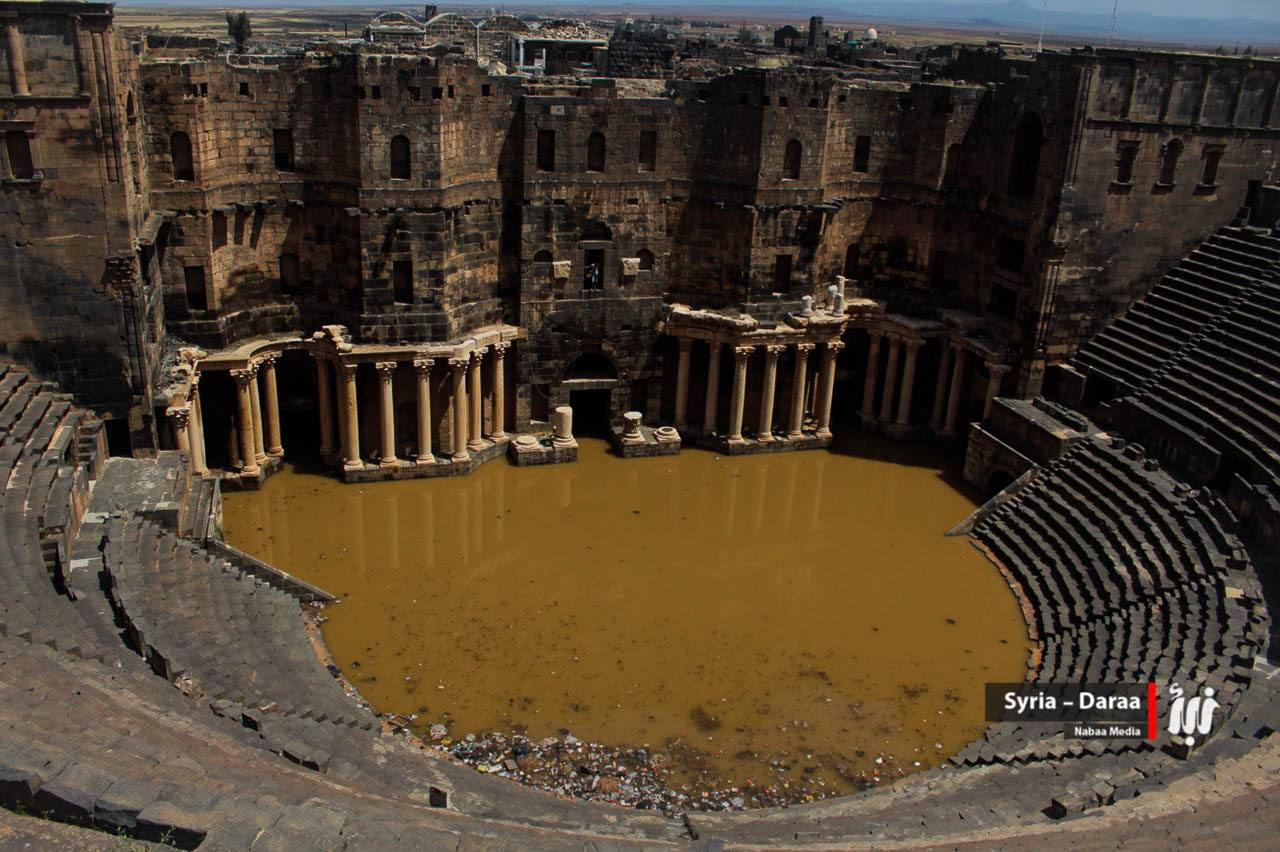 Le théâtre antique de Bosra inondée