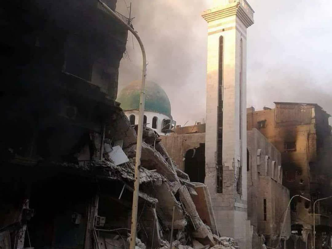 Désolation et destruction dans les quartiers sud de Damas