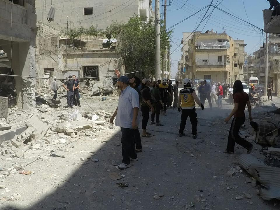 Les raids aériens à Ariha