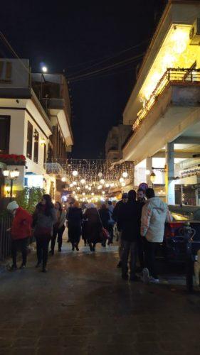 Rue commerçante à Damas